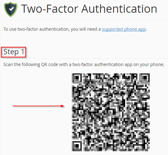 enable two-factor authentication for cPanel