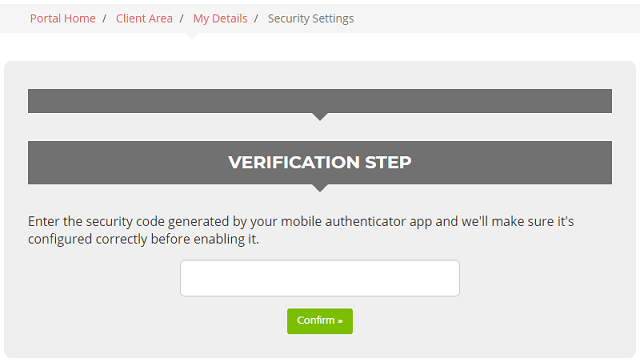 Insert two-factor authentication code provided by Authy
