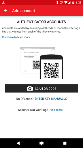 Setup two-factor authentication in Authy